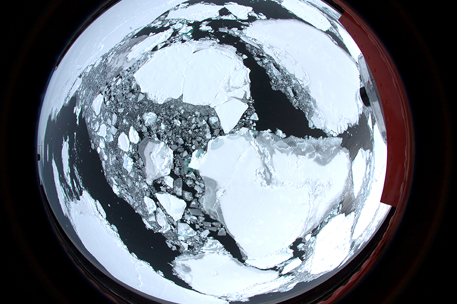 Arktis-Aufnahme der Bordkamera Polar5